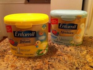 Infant formula and seizures